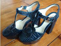 Orla Kiely x Clarks UK Size 6 Vintage Style Platform Shoes