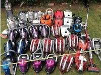 JOB LOT OF VACUUM CLEANERS & ACCESSORIES