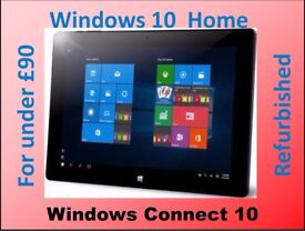 WINDOWS CONNECT 10.1in TABLET WINDOWS 10 HOME REFURBISHED