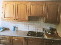 USED SOLID OAK DOOR KITCHEN UNITS & ELECTRICAL APPLIENCES