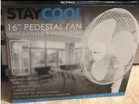 Brand New In Box 16 Inch Pedestal Fan