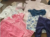 4 x Baby girls dress and legging sets, first size/upto 3 months