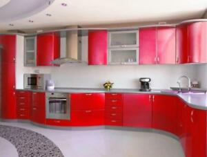 High Gloss Kitchen cabinets wide range verity of colors 647-219-3940