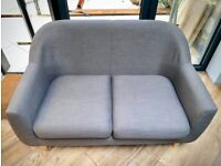 Made Two Seater Tubby Sofa in Pewter Grey