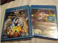 Snow White and the Seven Dwarfs and Princess and The Frog on Blu-Ray