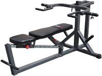 chest press shoulder press, 120kg of rubber tri grip weights