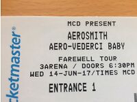 Aerosmith, Dublin, 14/6/17. 1x standing ticket
