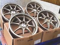"Brand new 16"" rota fighter / ray volk style Alloy wheels 4x100 4x114.3 Corsa Clio civic"