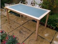IKEA Frosted Glass + Light wood Dining Table