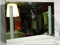 Bathroom Illuminated LED Light Mirror 80cmx60cm with Infra Red Motion Sensor - small crack