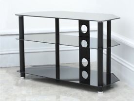 """Black Glass TV Stand for TVs up to 50"""" - used"""