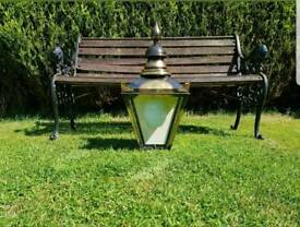 Large Sugg Victorian style halfwall lamp lantern light outside outdoor