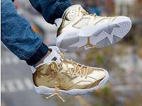 NIKE AIR JORDAN 6 RETRO PINNACLE METALLIC GOLD MENS SHOES SIZE UK 9