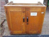 Vintage Oak School Cupboard Base