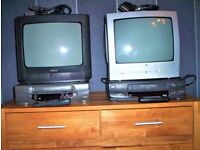 Bulk Buy 2 , Cassette /Video recorders + 2, 12 inch Portable TV + Approx 250 videos .