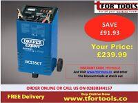Draper 40180 Expert 300 amp Battery Charger/Jump Starter Booster & Trolley