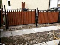 Wrought iron gates railings and furniture
