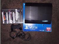 PS3 Playstation 3 + 16 games (GTA V - FIFA 16- ASSASSIN CREED - METAL GEAR - TOMB RAIDER)