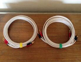 QED Qudos Bi-Wire Speaker Cable Terminated Banana Plugs 5m Pair