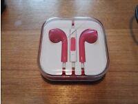 PINK Headphones Earphone Handsfree with Mic for iPhone 6 5S 5C 4 iPad iPod