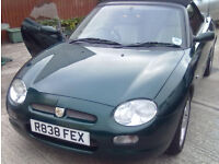 1997 MG MGF in British Racing Green. 1.8 Manual Non-VVC - Excellent Condition