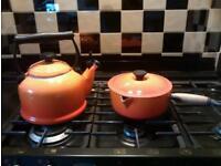Le Creuset 2.1 ltr Kettle and Medium Saucepan