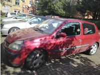 Must go in **24 HOURS**. Clio 2002 Man 1.4 Scrap/Repair 4 Months MOT