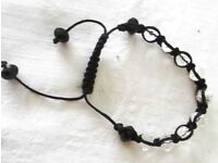 LOVELY BLACK & CRYSTAL BRACELET.