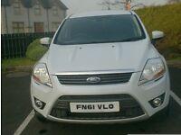 2011 Ford Kuga 2.0Tdci, 163bhp, All wheel drive, in Pearl White!!