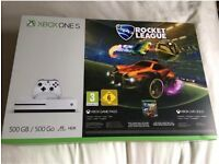 New Xbox One S 500GB Rocket League Bundle + 6 months Xbox Live Gold