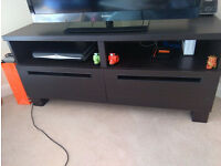 MOVE OUT SALE - Black TV Bench with Drawers: £40