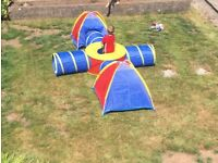 Kids play tents and tunnels