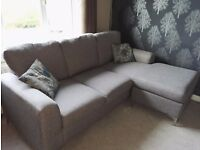 ***FROM 10th NOVEMBER*** Perfect condition, beautiful grey corner sofa and foot stool