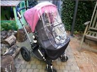 Bugaboo cameleon with pink footmuff
