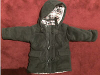 George boy's brown hooded jacket for 2-3 year olds