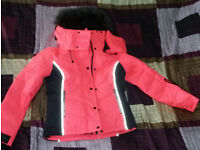 Superdry Snow Puffer Womens Jackets Coral size small (size 10)