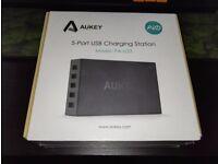 Aukey 5-Port USB Charging Station (Black) (BNIB)