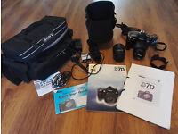Nikon D70 SLR Digital Camera and accessories