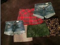 Women's size 6-8 skirts and shorts bundle