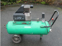 Air Compressor, 50 litre tank 2hp motor
