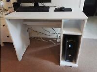 White Ikea Borgsjo Desk