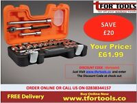Bahco S240 24 Piece Socket Set 1/2 Inch Square Drive