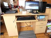 Pine effect Computer Desk