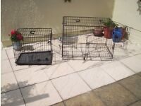 2 dog carrying crates