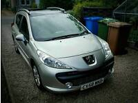 Peugeot 207 SW HDi Sport 1.6 turbo diesel estate in excellent condition