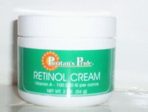 retinol cream vitamin a 100 000 iu per ounce clears acne wrinkle free 2 oz jar. Black Bedroom Furniture Sets. Home Design Ideas