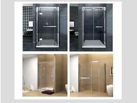 Shower door. Lifetime warranty.