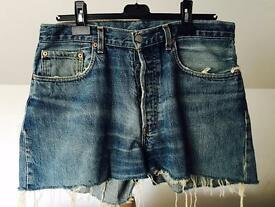 High Wasted Levi's Shorts.