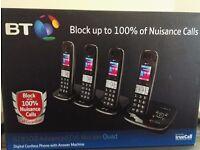 BT8500 Enhanced Call Blocker Cordless Home Phone - Quad Handset Pack