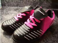 Trainers. Womens junior football trainers. Size 4. Pink black white. O'Neills trainers